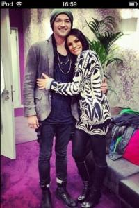 danny and jessie j backstage