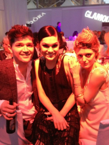 danny, jessie j and bo at the glamour party
