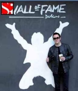 glen in front of wall of fame dublin