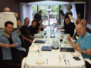 band and crew dinner