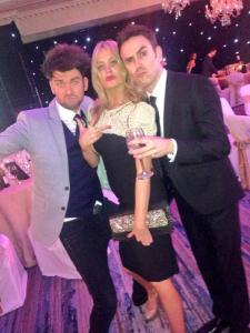 Glen Power with Laura Whitmore and Eoghan Mcdermott earlier this year