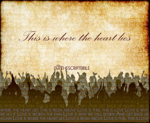 the script this love lyrics crowd silhouette tsb