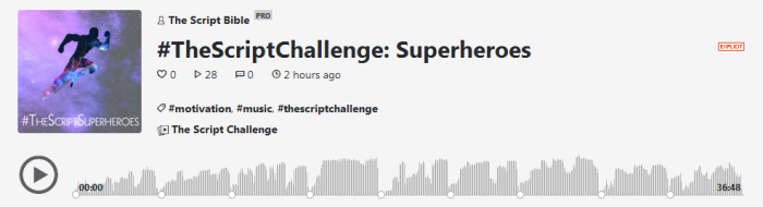 the script challenge podcast