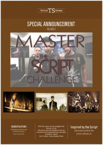 master of the script challenge poster