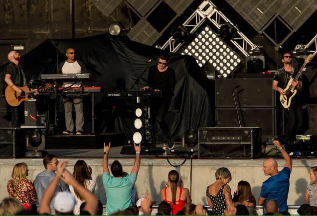The Script live in Salt Lake City, Utah, 2014. Photo by Trent Nelson.
