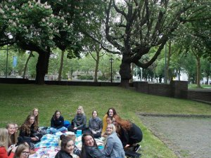 This was our second meeting after the concert of the script. We were having a picknic, that day was so funny, still laughing about it.
